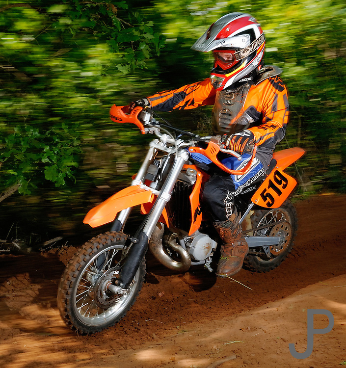 Young child on KTM dirt bike at OCCRA race near Guthrie, Oklahoma