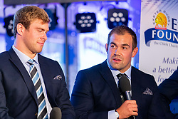 Mark Stevens interviews Rob Baxter, James McRae, Ben Moon and Jack Nowell - Ryan Hiscott/JMP - 06/08/2018 - RUGBY - Sandy Park - Exeter, England - Exeter Chiefs Season Launch Dinner
