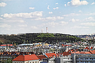 view from havlickovy sady over prague