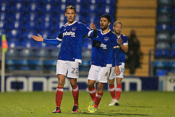 Goal, Kal Naismith of Portsmouth scores, Portsmouth 1-0 Bristol Rovers - Mandatory by-line: Jason Brown/JMP - 08/11/2016 - FOOTBALL - Fratton Park - Portsmouth, England - Portsmouth v Bristol Rovers - Checkatrade Trophy