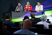 June 8-11, 2017: Canadian Grand Prix. Guenther Steiner, Haas F1 Team Principle, Maurizio Arrivabene, team principal of Scuderia Ferrari, James Allison, Mercedes Technical Director