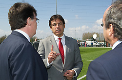 NEWPORT, WALES - Saturday, April 20, 2013: Wales manager Chris Coleman at the opening of the FAW National Development Centre in Newport. (Pic by David Rawcliffe/Propaganda)