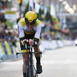22-06-2016: Wielrennen: NK tijdrijden Mannen: Goeree Overflakee     <br />MIDDELHARNIS (NED) wielrennen<br />Jos van Emden strandde op de tweede plek achter Tom Dumoulin