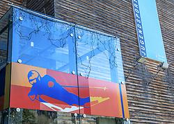 06.12.2017, Jugendsporthaus, Schladming, AUT, im Bild der Eingangsbereich des Jugendsporthauses, Internat der Ski-NMS und Ski-Akademie Schladming. Eine Absolventin erhob Vorwürfe, wonach hier sexuelle Übergriffe und Gewalt in Form von Schlagen, Grapschen und Pastern mit einer Drahtbürste stattfanden // The worldwide outing-wave of women to be victims of sexual violence does not stop even before Austria. According to the statements of a anonymous former ski racer the ski school Schladming with the associated boarding gets in focus of the current public discussion. The picture shows the boarding Jugendsporthaus in Schladming, Austria on 2017/12/06. EXPA Pictures © 2017, PhotoCredit: EXPA/ Martin Huber