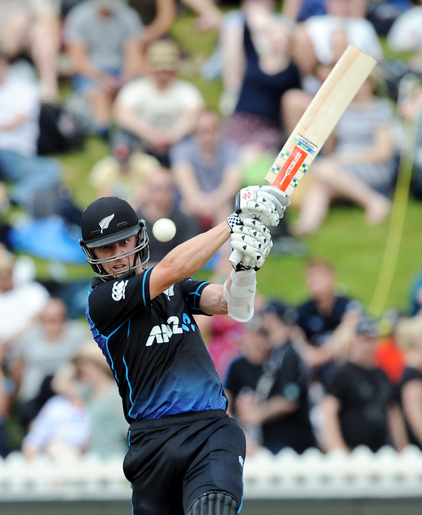 New Zealand's Matt Henry batting against Pakistan in the 1st ODI International Cricket match at Basin Reserve, Wellington, New Zealand, Monday, January 25, 2016. Credit:SNPA / Ross Setford