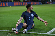 Kyle Walker of England falls to the ground during the International Friendly match between Germany and England at Signal Iduna Park, Dortmund, Germany on 22 March 2017. Photo by Phil Duncan.
