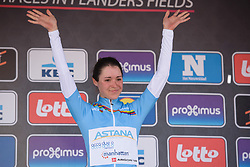 Sofia Bertizzolo (ITA) retains the lead in the WorldTour Youth Classification after Gent Wevelgem Elite Women 2018 - a 143 km road race from Ieper to Wevelgem on March 25, 2018. Photo by Sean Robinson/Velofocus.com