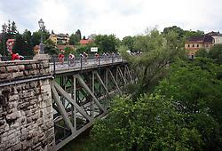 Riders in Novo mesto during last 4th stage of the 15th Tour de Slovenie from Celje to Novo mesto (157 km), on June 14,2008, Slovenia. (Photo by Vid Ponikvar / Sportal Images)/ Sportida)