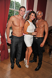 Centre, LIZZIE CUNDY at a party to celebrate Tamara Ecclestone's 28th birthday held in Tyringham, Newport Pagnell, Bucks on15th June 2012.