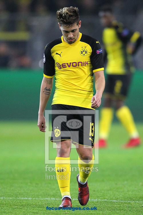 Raphael Guerreiro of Borussia Dortmund  during the UEFA Champions League match at Signal Iduna Park, Dortmund<br /> Picture by Yannis Halas/Focus Images Ltd +353 8725 82019<br /> 21/11/2017