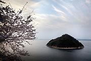 Shikoku island, Japan, April 2010 - Small island in the Seto inland Sea near Takamatsu.