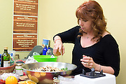 America's Cooking Teacher Christina Pirello demonstrates three delicious springtime dishes at Whole Foods Market in Devon, PA. Participants were treated to one-on-one interaction with the PBS telvision celebrity which included not only cooking instruction but stories, jokes and good-natured advice.
