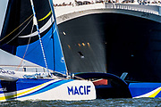 Macif, before the start of The Bridge 2017, a transatlantic race between the cruise liner RMS Queen Mary 2 and the world's fastest Ultim trimarans from Saint-Nazaire to New-York City on June 25, 2017 in Saint-Nazaire, France - Photo Vincent Curutchet / Dark Frame / ProSportsImages / DPPI