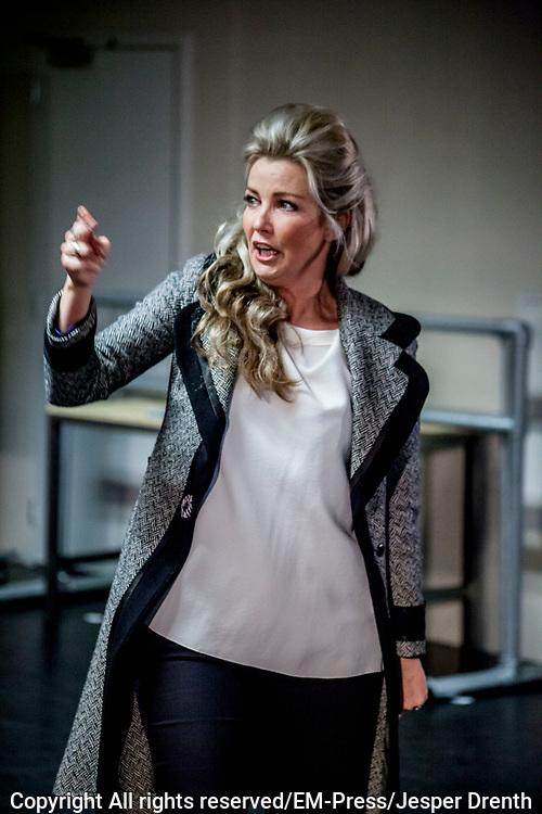 Perspresentatie van de musical The Full Monty<br /> <br /> Op de foto:  Brigitte Nijman