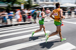 Blind Sandi Novak of Slovenia (with guide Roman Kejzar of Slovenia) competes at Men's Marathon - T12 Final during Day 11 of the Rio 2016 Summer Paralympics Games on September 18, 2016 in Copacabana beach, Rio de Janeiro, Brazil. Photo by Vid Ponikvar / Sportida