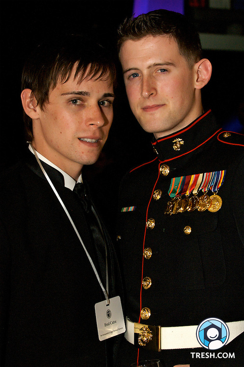 Brad Catoe and partner former Marine Corps Sergeant Brian Fricke at the Servicemembers Legal Defense Network 15th Annual Dinner, held Saturday, March 24, 2007, at the National Building Museum in Washington, D.C.