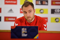 CARDIFF, WALES - Thursday, November 15, 2018: Denmark's Christian Eriksen during a press conference at the Cardiff City Stadium ahead of the UEFA Nations League Group Stage League B Group 4 match between Wales and Denmark. (Pic by David Rawcliffe/Propaganda)
