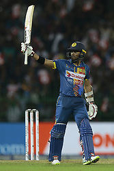 March 12, 2018 - Colombo, Sri Lanka - Sri Lankan cricketer Kusal Mendis after scoring 50 runs  during the 4th Twenty-20 cricket match of NIDAHAS Trophy between Sri Lanka  and India at R Premadasa cricket ground, Colombo, Sri Lanka on Monday 12 March 2018. (Credit Image: © Tharaka Basnayaka/NurPhoto via ZUMA Press)