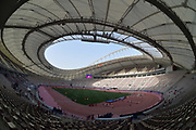General overall view of the Asian Athletics Championships at  Khalifa International Stadium aka National Stadium at the Aspire Zone in Doha, Qatar, Sunday, April 22, 2019. Doha will play host to the 2019 IAAF World Championships in Athletics and 2022 FIFA World Cup. (Jiro Mochizuki/Image of Sport via AP)