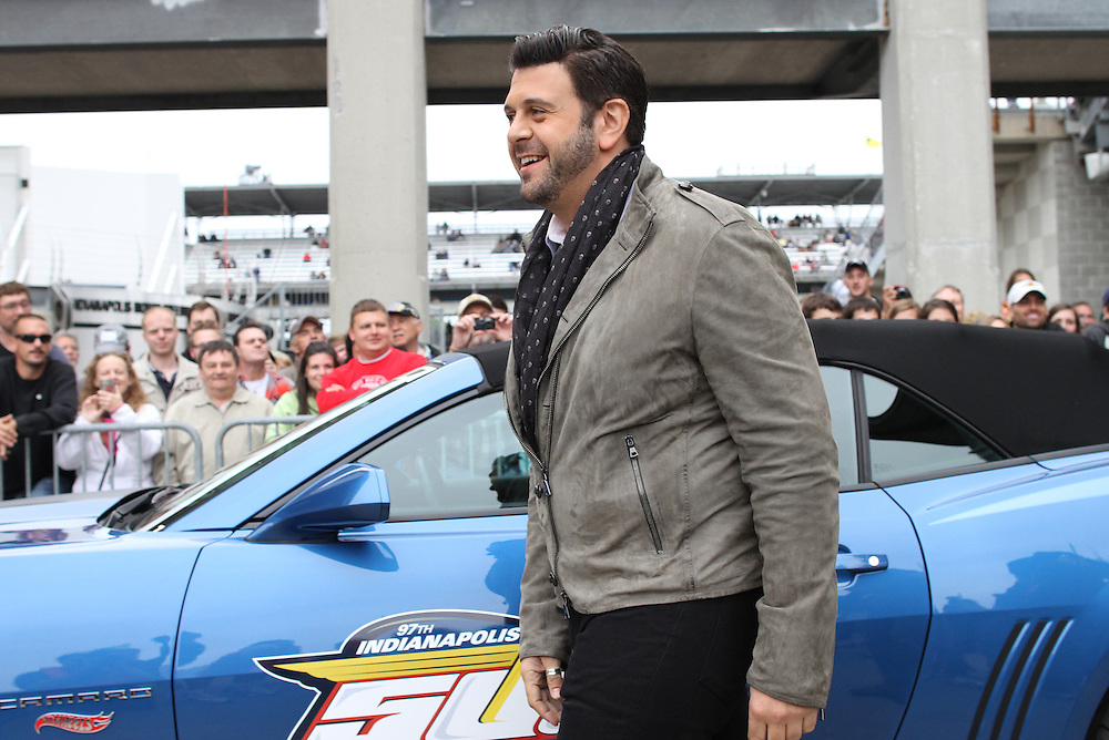 Man vs Food host Adam Richman attends the celebrity red carpet event before the 97th running of the Indianapolis 500 at Indianapolis Motor Speedway Sunday May 26, 2013.  .Chris Bergin/ for The Star