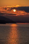 Sunrise over Franklin Roosevelt Lake, Washington.