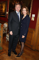 LORD & LADY LEITCH of Oakley in Fife at a reception hosted by Brian Ivory Chairman of the Trustees of The National Galleries of Scotland to commemorate Sir Timothy Clifford's 21 years of Director of the National Gallery of Scotland and his forthcoming retirement in January 2006, held at Christie's, King Street, London W1 on 6th December 2005.<br />