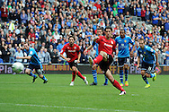Cardiff city's Peter Whittingham scores his sides 2nd goal from a penalty. NPower championship, Cardiff city v Leeds United at the Cardiff city stadium in Cardiff, South Wales on Sat 15th Sept 2012.   pic by  Andrew Orchard, Andrew Orchard sports photography,