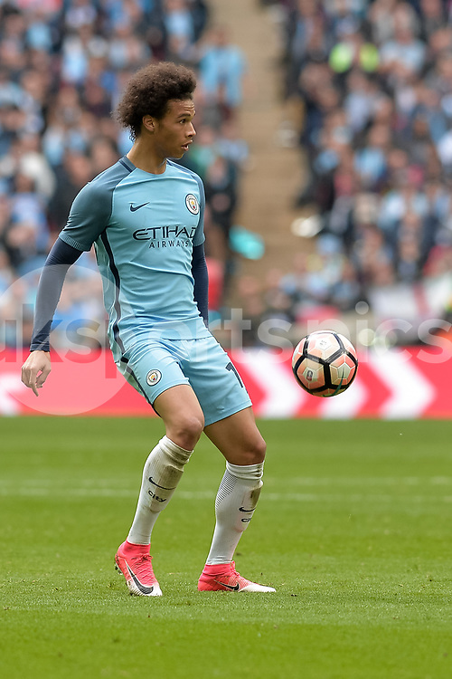 Leroy Sané of Manchester City during the The FA Cup Semi Final match between Arsenal and Manchester City at Wembley Stadium, London, England on 23 April 2017. Photo by Vince Mignott.