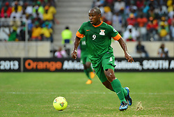Zambia's Collins Mbesuma during the 2013 Orange Africa Cup of Nations soccer match, Zambia Vs Nigeria at The Giraffe Stadium in Mbombela, South Africa on January 25, 2013. The match ended in a 1-1 draw. Photo by Christian Liewig/NCI/ABACAPRESS.COM  | 349919_054