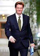 © Licensed to London News Pictures. 11/09/2012. Westminster, UK Danny Alexander Treasury Secretary. MP's arrive for Cabinet at number 10 Downing Street today 11/09/12. Photo credit : Stephen Simpson/LNP