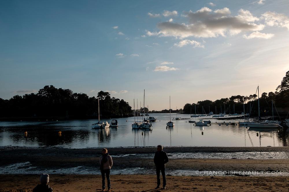 Presqu'ile de Conleau, Golfe du Morbihan, Bretagne, France.