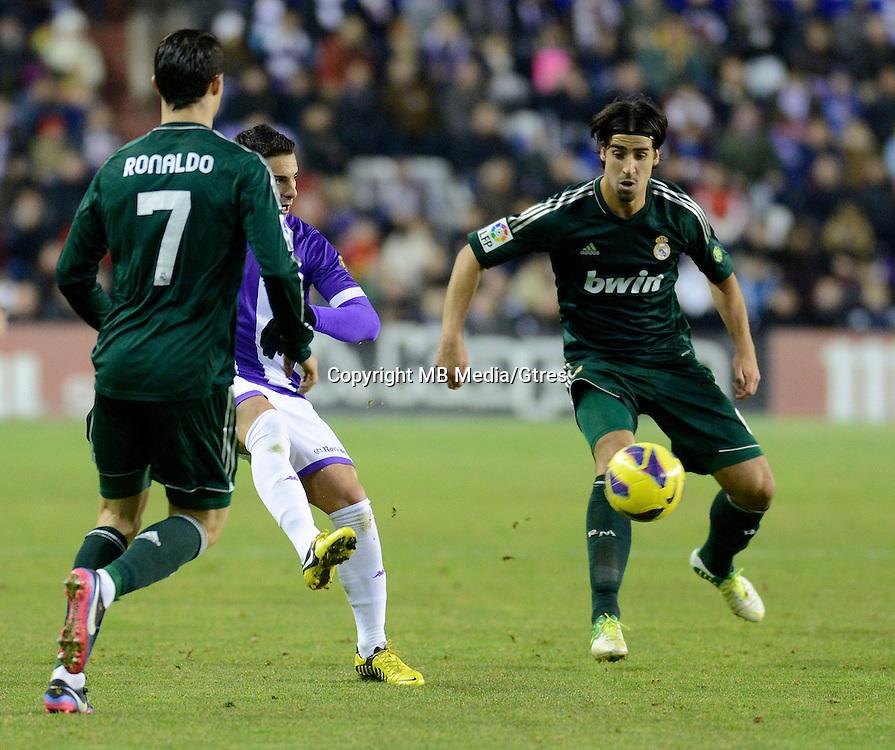 During a Spanish La Liga soccer match against Valladolid at the Jose Zorrilla stadium in Valladolid, Spain, Saturday, Dec. 8, 2012.