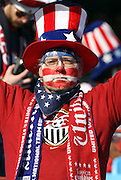 23 JUN 2010:  USA fan in the stands.  The United States National Team played the Algeria National Team at Loftus Versfeld Stadium in Tshwane/Pretoria, South Africa in a 2010 FIFA World Cup Group C match.