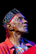 Bernie Worrell playing keyboards with Bootsy Collins