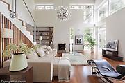 Modern white home interior in Poland near Warsaw photo Piotr Gesicki