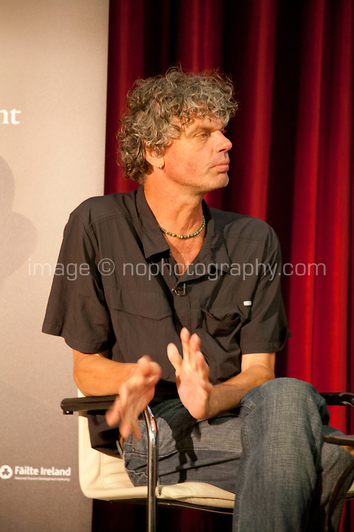 Remaking the Shape of the World, Dutch Photo Journalist Kadir Van Lohuizan discussing Climate Change as part of Galway International Arts Festival First Thought Talks, Galway City, Saturday 18th July 2015. Photo credit: Doreen Kennedy