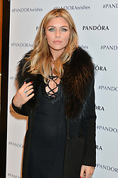 ABBEY CLANCY at the #PandoraWishes Campaign Launch Event, Pandora Marble Arch flagship store, London on 12th November 2014.