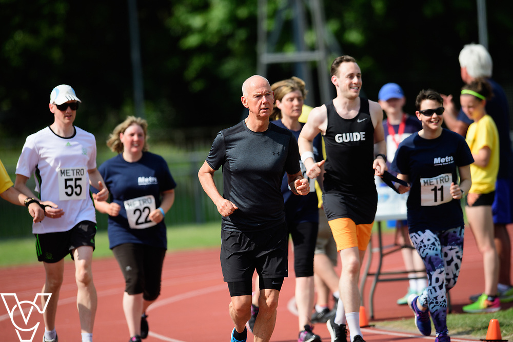 Metro Blind Sport's 2017 Athletics Open held at Mile End Stadium.  5000m.  <br /> <br /> Picture: Chris Vaughan Photography for Metro Blind Sport<br /> Date: June 17, 2017
