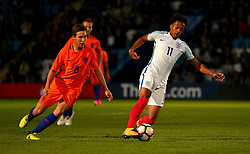 Chris Willock of England Under 20s goes past Carel Eiting of Netherlands Under 20s - Mandatory by-line: Robbie Stephenson/JMP - 31/08/2017 - FOOTBALL - Telford AFC - Telford, United Kingdom - England v The Netherlands - International Friendly