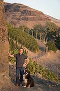 Christophe Baron at Cayuse's Hors Categorie Vineyard outside of Milton Freewater, Oregon