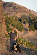 Christophe Baron at Cayuse's Hors Categorie Vineyard outside of Milton Freewater, Oregon