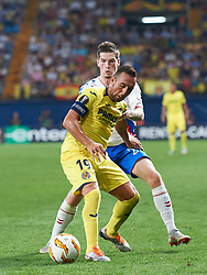 September 20, 2018 - Villarreal, Castellon, Spain - Santiago Cazorla of Villarreal CF and Ryan Kent of Rangers FC during the UEFA Europa League Group G match between Villarreal CF and Rangers FC at La Ceramica Stadium on September 20, 2018 in Vila-real, Spain. (Credit Image: © Maria Jose Segovia/NurPhoto/ZUMA Press)