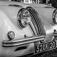 1952 Jaguar Model 120 (rep) grill and lights black and white
