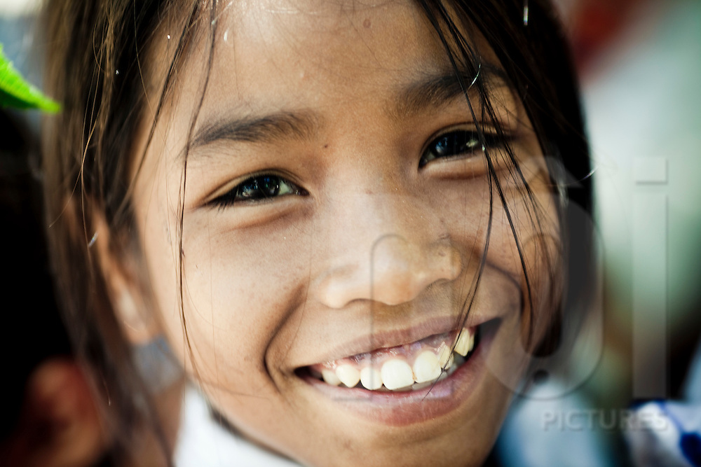 Soulful portrait of a young vietnamese girl, Cam Ranh, Vietnam, Southeast Asia