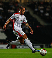 Samir Carruthers of Milton Keynes Dons during the Sky Bet League 1 match at stadium:mk, Milton Keynes<br /> Picture by David Horn/Focus Images Ltd +44 7545 970036<br /> 16/09/2014