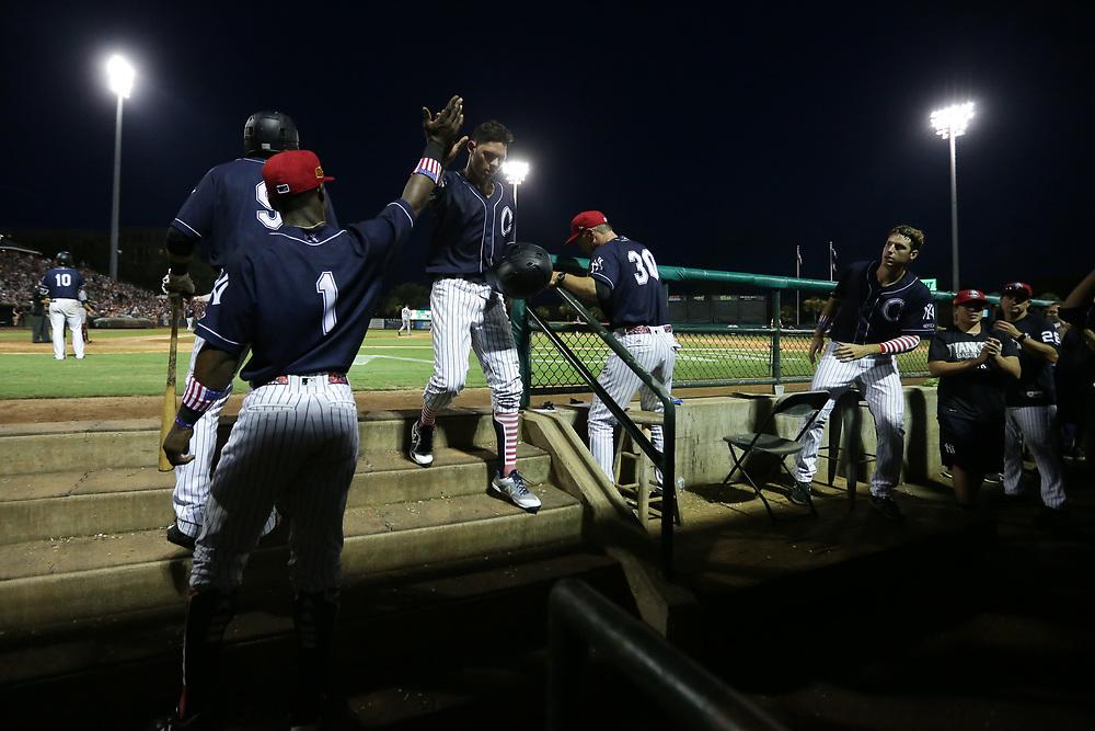 Augusta GreenJackets vs. Charleston RiverDogs at Joseph P. Riley Ballpark in Charleston, S.C. on Wednesday, July 4, 2018.<br /> Zach Bland/Charleston RiverDogs