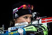 &Ouml;STERSUND, SVERIGE - 2017-12-03: Anais Chevalier under damernas jaktstart t&auml;vling under IBU World Cup Skidskytte p&aring; &Ouml;stersunds Skidstadion den 1 december 2017 i &Ouml;stersund, Sverige.<br /> Foto: Johan Axelsson/Ombrello<br /> ***BETALBILD***