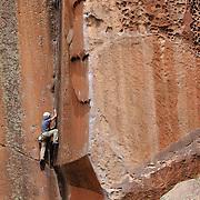 A climbing on Not My Cross To Bear - 5.10