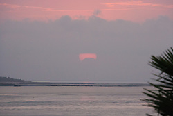 Solar eclipse over Roebuck Bay - 14th November 2012.