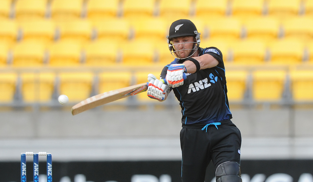 New Zealand's Brendon McCullum batting against Pakistan in the 1st One Day International cricket match at Westpac Stadium, New Zealand, Saturday, January 31, 2015. Credit:SNPA / Ross Setford